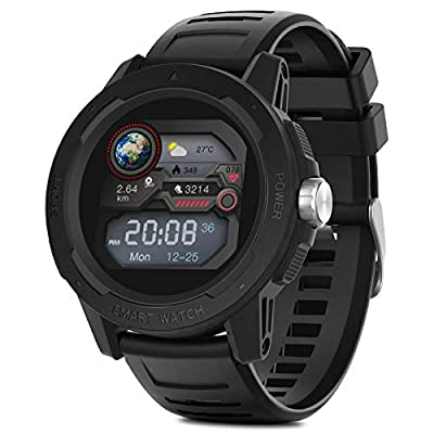 moreFit Smart Watch with Heart Rate Monitor, IP67 Waterproof Fitness Tracker,Calorie Step Counter Activity Trackers, Ideal Fitness Watch Gift for Men Women by moreFit