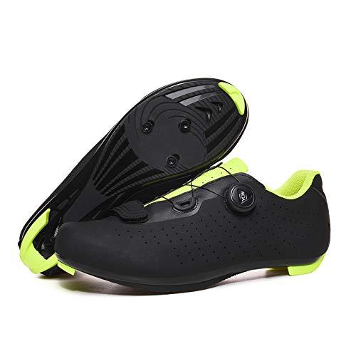 ZYSM Zapatillas Ciclismo MTB Zapatillas Bicicleta Montaña Hombre Zapatos Ciclismo Calzado Bicicleta Montaña,Negro,46