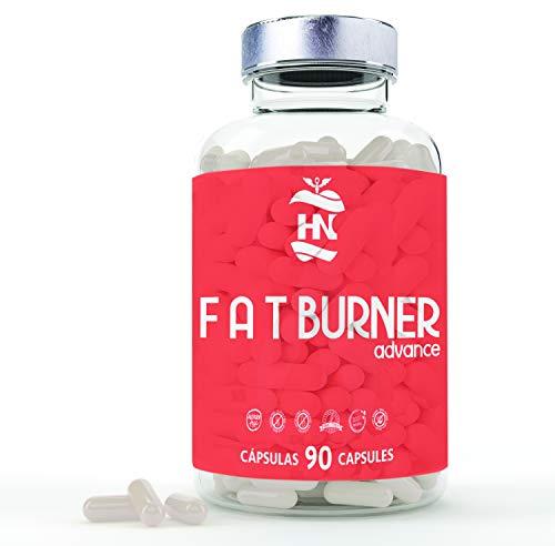 Fat Burner Advance, Potente Quemagrasas Abdominal para adelgazar. 90 Pastillas quemagrasas sin gluten I Para pérdida de peso I 1 mes para dietas Keto I Sin aditivos - Vegano - No GMO ✅