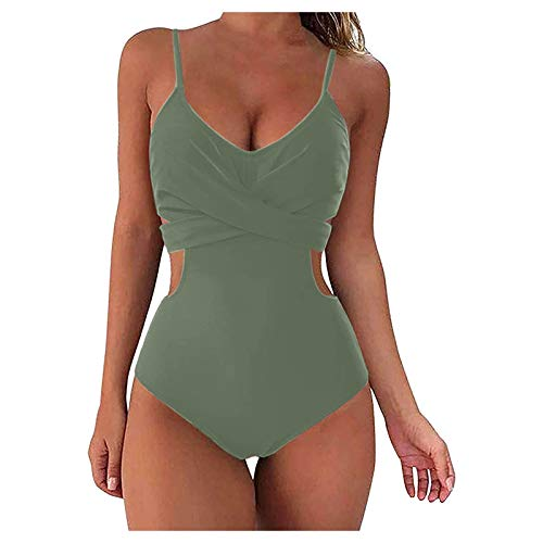 YANFANG Traje De BañO Seca RáPido Transparente para Muejr,Mujeres Bandeau Vendaje Bikini Set Push-Up BrasileñO Ropa Playa BañO,Mujeres