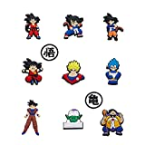 11pcs Anime Croc Charms for Men Boys Girls and Kids, PLEASE CHOOSE THE SELLER Miribrilian, others are fake Dragon Ball Croc Charms Set for DIY Clog Sandals Decoration