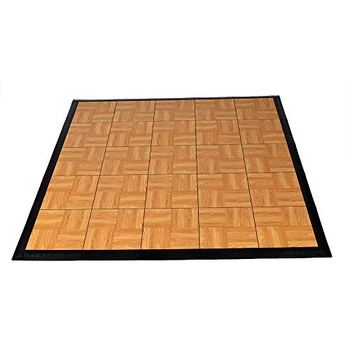 Greatmats Portable Dance Floor Wood Grain 5x5 Ft Kit Tap Dance