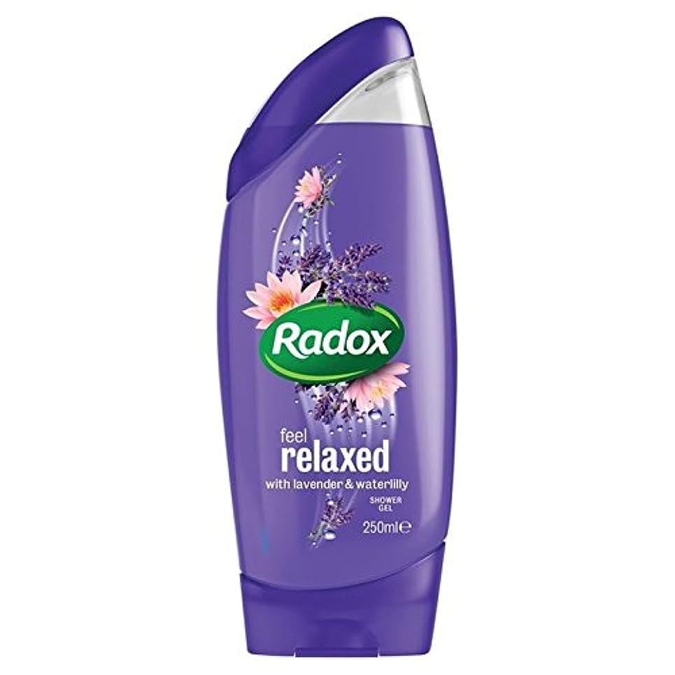 名前結紮ビザはリラックスシャワージェル250ミリリットルを感じます x2 - Radox Feel Relaxed Shower Gel 250ml (Pack of 2) [並行輸入品]