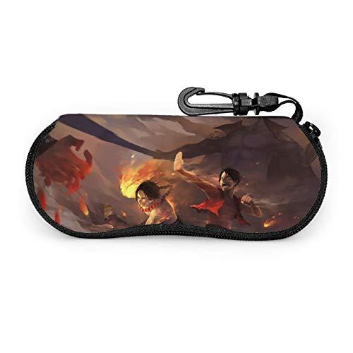 La funda de una pieza para gafas de anime está hecha de neopreno súper suave, ligero y cómodo portátil con cremallera para gafas de viaje