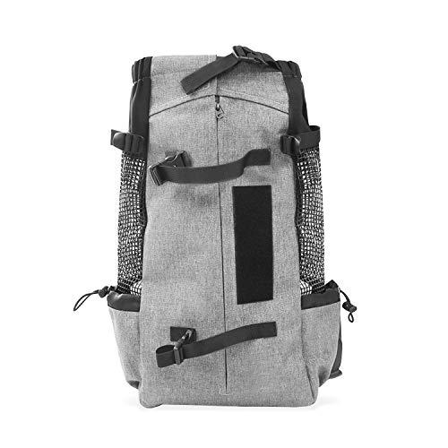 PETCUTE Hundetasche Hundetransporttasche Tragetasche für Hunde Katzen Wanderrucksack Seite Atmungsaktives Netz Rucksack für groß Hunde Katzen bis zu 16,5 kg Grau
