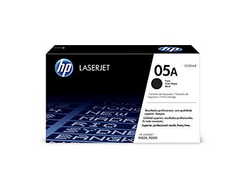 HP 05A CE505A Cartuccia Toner Originale Compatibile con Stampanti LaserJet P2035, P2055, P2055D, P2055DN, Nero