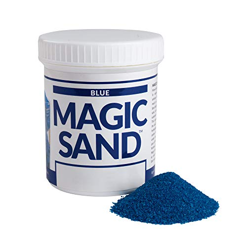 Steve Spangler Science Magic Sand, 227g, Blue – Colored Play Sand That Never Gets Wet, Exciting STEM Activity, Learn and Teach About Water Molecules for Home and Classroom Use