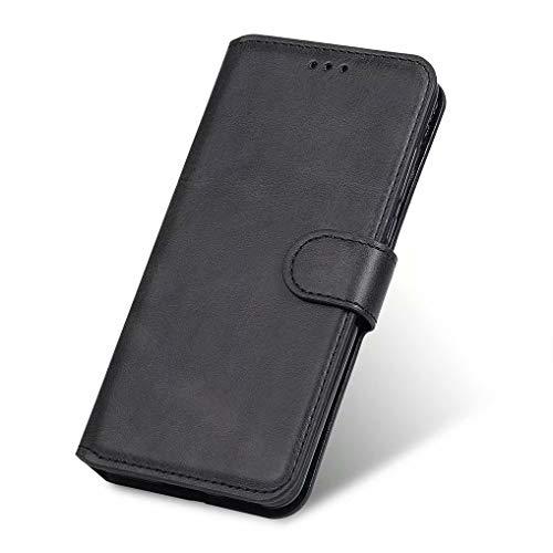LINER Funda para Samsung Galaxy A52 5G/4G, Premium Cuero Billetera Flip Protectora Carcasa Magnético para Samsung Galaxy A52 5G/4G, Estuche con Soporte Plegable/Ranura para Tarjeta - Negro
