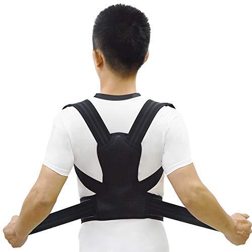 ZBSPORT Haltungstrainer, Geradehalter LUX zur Haltungskorrektur für Damen und Herren Rückenbandage für perfekte Haltung Schwarz