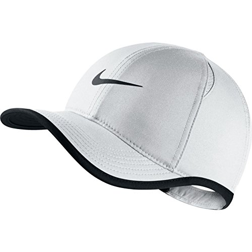 Nike Youth Aerobill Featherlight Cap, White/Black/Black, Misc