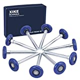 XiKe 10 Pack Blue 2' Nylon Garage Door Roller 4' Stem, Quiet/Durable and High Load, Use 6200-2RS Double Seals Precision Bearings.