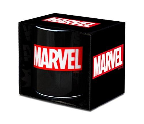 Marvel 6831646000 Tasse, Porzellan, Schwarz, 8 x 8 x 9 cm