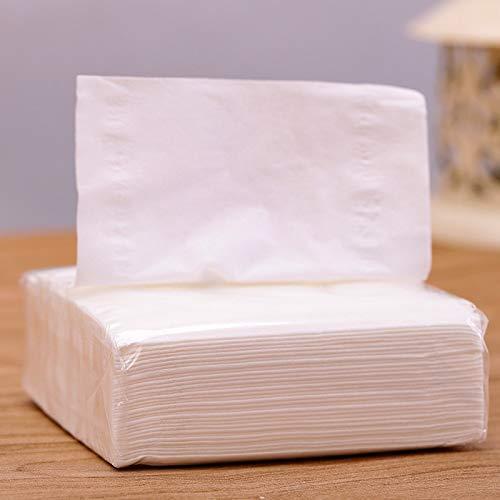 GJJSZ Haushalt Toilettenpapier 100 Rohholz Zellstoff Taschentuch Paket transparent weiß Haushalt Toilettenpapier Servietten Großhandel(Farbe:Weiß)