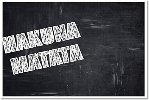 Barewalls Chalkboard Writing: Hakuna Ranking TOP15 Matata Art Ranking TOP15 Paper Wall Print