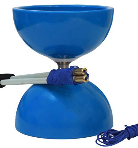 Spintastics Spinabolo Pro Triple Wide Bearing Chinese Yoyo Diabolo (Blue)