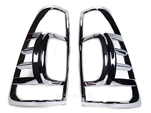 Aftermarket Accessory K1AutoParts Chrome Rear Tail Light Taillight Lamp Cover Trim for Isuzu D-max Dmax 2007 2008 2009 2010 2011