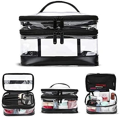 KIPBELIF Clear Makeup Bag Organizer - Multifunction Large Waterproof...