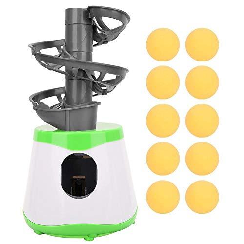 Alomejor Automatische Ballmaschine ABS Tischtennis Trainer Roboter Ping Pong Launcher Pitcher Exerciser mit 10 Bällen für Kinder