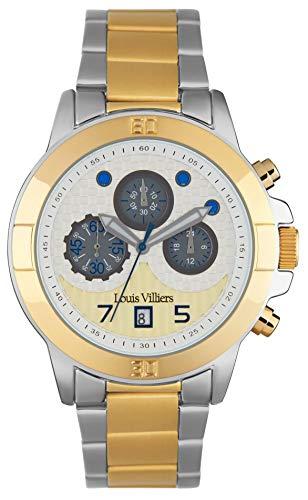 Louis villiers Reloj para Hombre Analógico de Cuarzo con Brazalete de Acero Inoxidable LVP1903