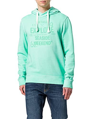 TOM TAILOR Herren 1025442 Hoodie Sweatshirt, 26479-Lucite Green, L