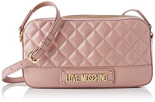 Love Moschino Damen Borsa Quilted Nappa Pu Kuriertasche, Pink (Cipria), 14x26x6 Centimeters