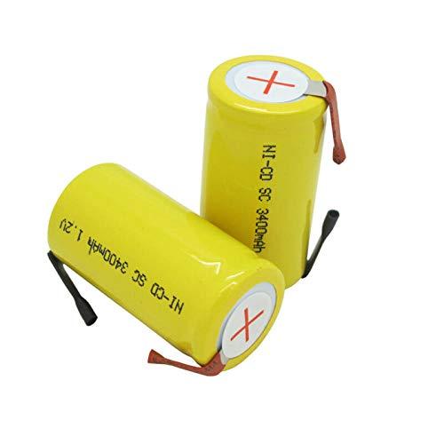 2-20pcs Batteries 1.2V 3400mah Rechargeable Battery for Bosch Hitachi Dewalt Electric Drill Power Tool Cell-1.2V_2pcs