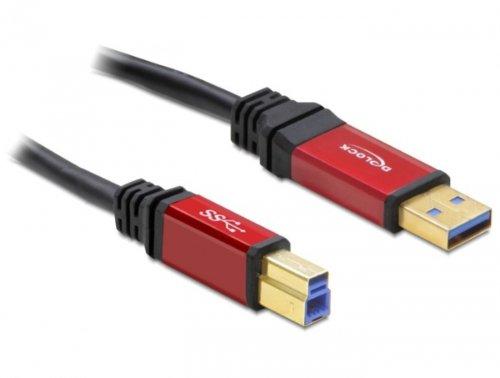 DeLOCK - Cable con Conectores USB 3.0 A-B Macho Rojo 5 m