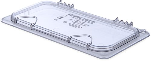 Carlisle 10278Z07 EZ Access Hinged Lid with Handle, Third Size, Clear