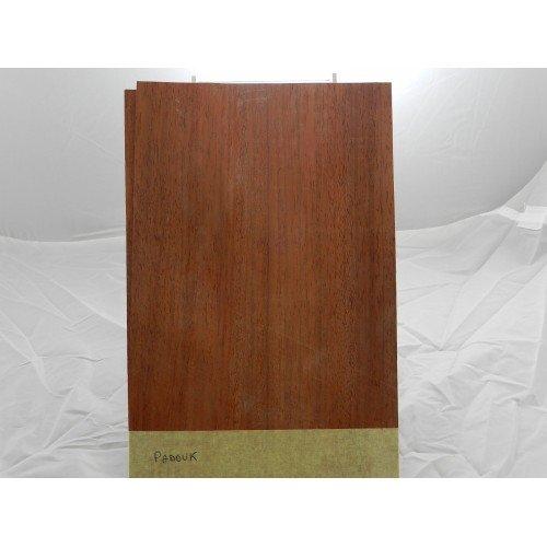 10 hojas de madera natural para incrustar de Padouk, 280 mm x 180 mm x 0,6 mm