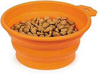 Guardian Gear Portable Dog Bowl Bend-A-Bowls Collapsible Food and Water for Dogs Traveling (Medium - 25 Ounce Carrot)