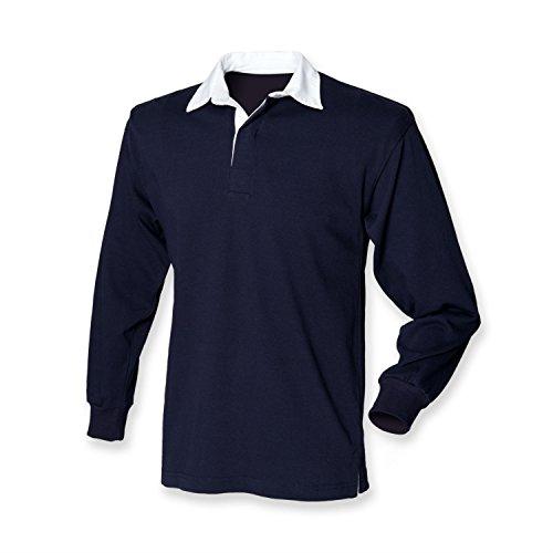 Kinder Classic Rugby Shirt, Marineblau, Gr.152