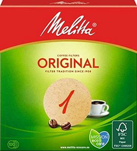 Melitta Rundfilter Classic 1 in braun, 100 Stück