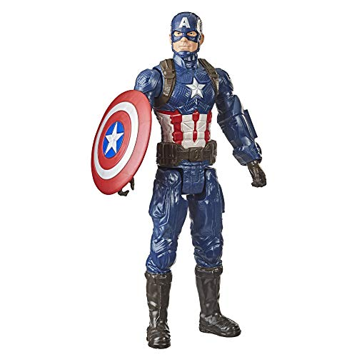Marvel Avengers Titan Hero Series Collectible 30-cm Captain America Action Figure, Toy for Ages 4 and Up
