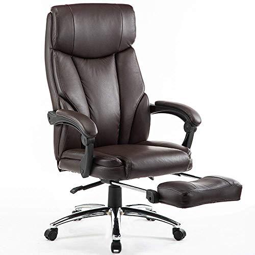 Chaise en Cuir De Bureau Ergonomique De Chaise De Bureau, Chaise D'Étude De Chaise Pivotante De Chaise De Patron