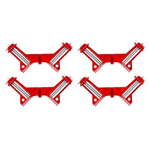 WFBD-CN Holzschnitzwerkzeuge 4 PCS Robuste 90 Grad rechtwinklig Clamp DIY Eckzwingen Schnell Feste Fishtank Glas Holz Bilderrahmen Fenster und Türen rechtwinklig Drehwerkzeugsatz