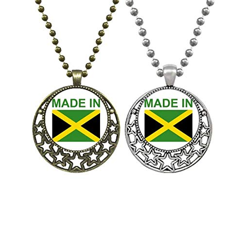Made In Jamaica Country Love Lovers Necklaces Pendant Retro Moon Stars Jewelry