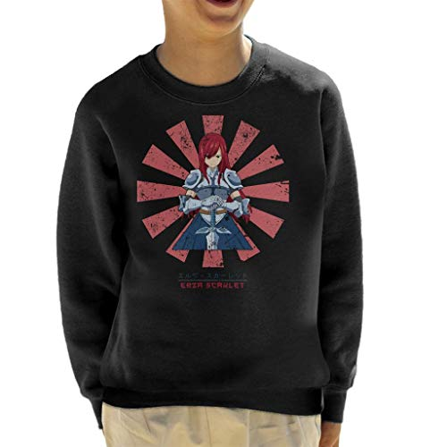 Cloud City 7 Erza Scarlet Retro Japanse Fairy Tale Sweatshirt voor kinderen