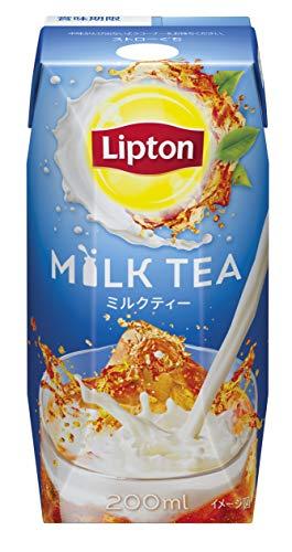 リプトン ミルクティー 200ml [紅茶飲料 紙パック ドリンク 飲み物 常温保存]×24本
