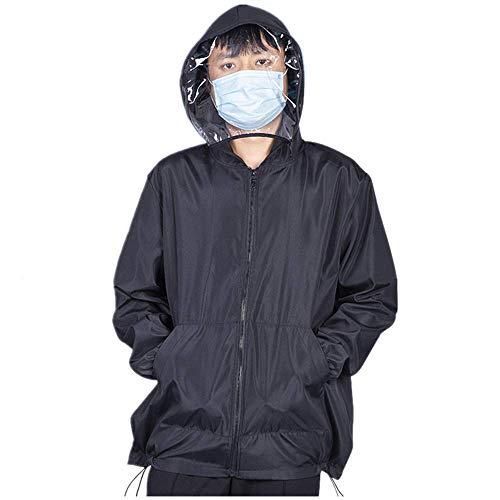 Schutzanzug Jacke mit Kapuze M bis XL Größe Geeignet für Unisex Männer und Frauen Kinder, beweglichen Schutzanzug Kessel Anzug mit Reißverschluss,XL