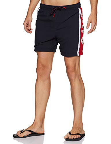 Superdry Trophy Water Polo Swim Short Bleu (Darkest Navy 49P), M Homme