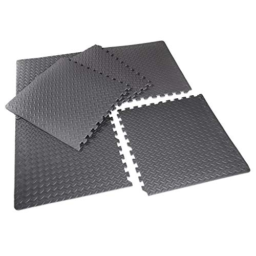 Large Interlocking EVA Foam Puzzle Mats, Gym Flooring Matt, Protective Modular Floor Tiles, Non slip Rubber Cushion For Home Workout, Yoga Exercise matting-24'X24'(60cmX60cm), Grey