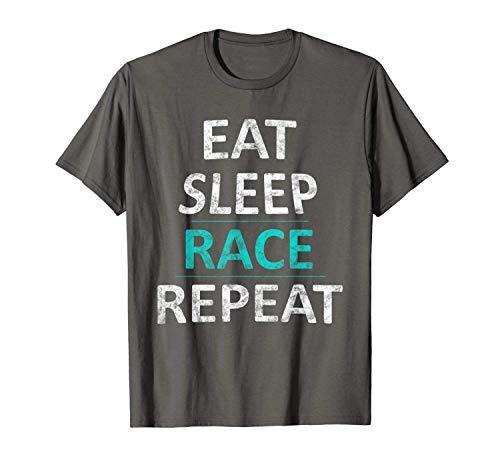 T Shirt Gift Eat Sleep Race Repeat Drag Racing Car Driver