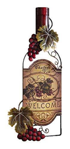 Accents Depot Vineyard Wine Bottle Kitchen Wall Art
