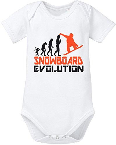 EZYshirt® Snowboard Evolution Baby Body Shortsleeve