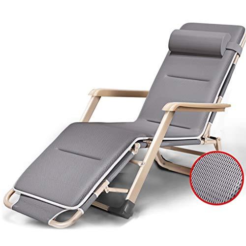BSQT Silla Zero Gravity Silla Plegable y Transpirable Informal para el Descanso para el Almuerzo Única Oficina Simple Cama para la Siesta Cama Plegable tamaño: 52 * 25 * 178 cm Muebles de Jardin
