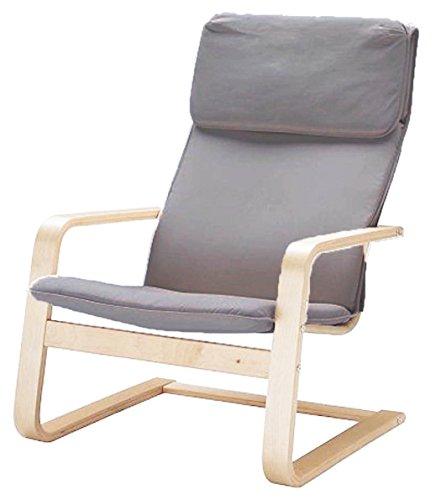¡Solo cubierta! ¡La silla no está incluida! El reemplazo de las fundas de la silla de algodón está hecho a medida para el sillón IKEA Pello. Gris Claro