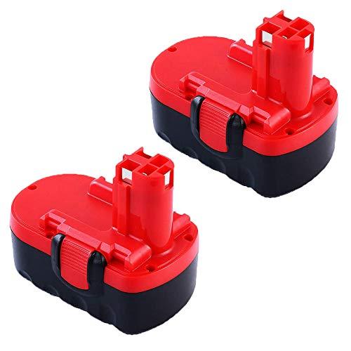 2Pack BAT140 3.6Ah 14.4V NI-MH Rechargeable Replacement Battery for Bosch BAT140 BAT038 BAT040 BAT041 BAT159 Cordless Power Tools