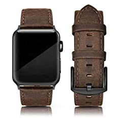 Stylish genuine leather compatible with iwatch 44mm 42mm all models, compatible for iWatch series 6, series 5, series 4, series 3, series 2 and series 1, SE sports & edition. Made of extract leather obtained from the top layer of cowhide, soft and co...