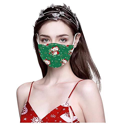 Weihnachtsdruckschutz für Erwachsene im Gesicht Kann nur Einmal Verwendet Werden Winddicht Weich Komfortabel 10PCS