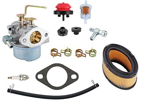 MDAIRC 640152 Carburetor for Tecumseh 640152A 640023 640051 640140 640260B HM80 HM90 HM100 8hp -10hp Tecumseh Engine Coleman PowerMate 5000 watt Generator Carb with Air Filter Spark Plug
